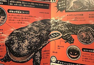 """京都水族館のオオサンショウウオ 解説パネルが完全に """"昭和の怪獣図鑑"""" でテンション爆上げ「これだけで行く価値ある」 - Togetter"""