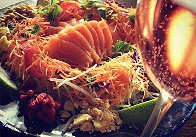 旧正月は魚生でピンクの泡!【シンガポールの正月料理・ユーシャン】 - まいにちワイン☆ときどき釣り