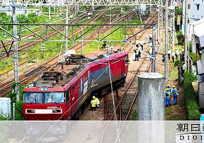 JR貨物機関車が脱線、けが人なし 宮城・岩沼の専用線:朝日新聞デジタル