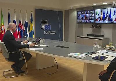 EU首脳会議 イタリアなどへ新たな財政支援見送り 新型コロナ | NHKニュース