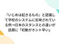 『いじめは起きるもの』と認識して学校のシステムに反映されている例→日本のスタンスとの違いが話題に「初動がホント早い」 - Togetter