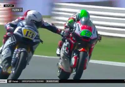 時速200キロで走るライバルのブレーキを握る暴挙 二輪レース「MotoGP」で起きた前代未聞の危険行為にファン激高 - ねとらぼ
