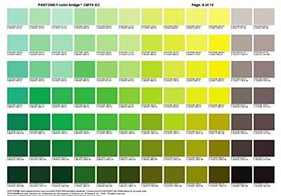 パントンカラー全1320色をCMYK値に変換したチートシート Pantone Color Bridge Plus & CMYK - PhotoshopVIP
