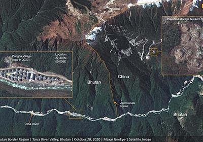 CNN.co.jp : 中国がインドやブータンとの係争国境近くで「村」建設か 衛星写真が捉える