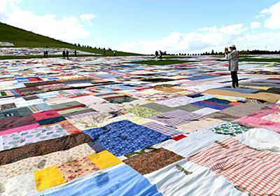 大風呂敷、のんさんらと広げる 札幌国際芸術祭:朝日新聞デジタル