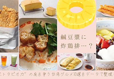 """鹹豆漿に炸鶏排…? """"ネクストタピオカ""""の座を争う台湾グルメ10選をデータで整理してみた - ぐるなび みんなのごはん"""