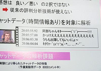 2ちゃんねるのテレビ番組実況レスを分析・解析することも可能な「情報環流システム」 in 技研公開2009 - GIGAZINE