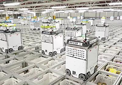 サッカー場よりも広い倉庫を5ミリ間隔で走り回って商品を集めるロボット倉庫の内部が公開される - GIGAZINE