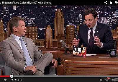 歴史的なゲーム実況が爆誕 64の神ゲー「ゴールデンアイ 007」をジェームズ・ボンド本人が実際にプレイ - ねとらぼ