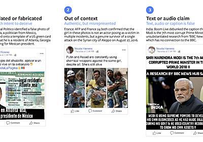 Facebook、フェイクニュース検出のためのAI画像・動画解析ツールを27団体に提供 - ITmedia NEWS