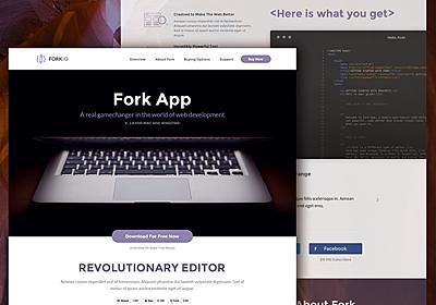 "Freebie: ""Forkio"" One Page Website Template | Codrops"