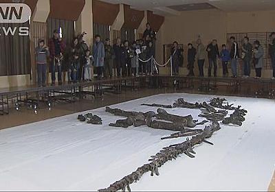 国内最大の恐竜「むかわ竜」の全身骨格を一般公開