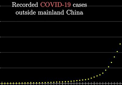 新型コロナウイルスが指数関数的に流行している可能性が示唆される - GIGAZINE