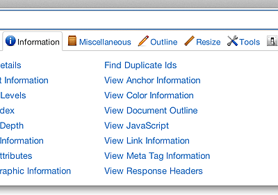 Web Developer Extension on chrispederick.com