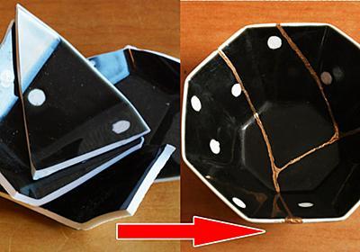 二度と使えないレベルで割れたお皿を味のある器として復活させる「簡単! おうちで金継ぎ」を使ってみた - GIGAZINE
