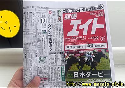 【競馬】日本ダービー(2018)をサイン馬券で考えてみる!って話 - 今日と明日のあいだ