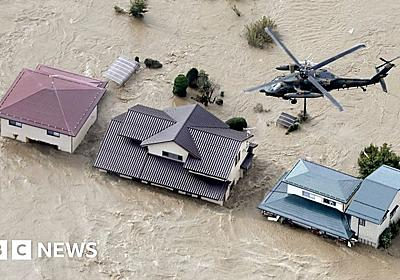 Typhoon Hagibis: Japan suffers deadly floods and landslides from storm - BBC News