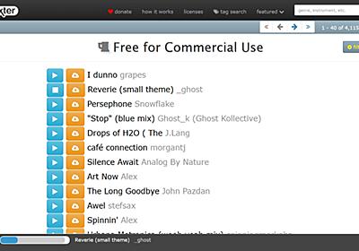 無料で商用利用可能な楽曲などをダウンロードし放題なムービー製作やゲーム製作などの強力な味方になる「dig.ccMixter」 - GIGAZINE