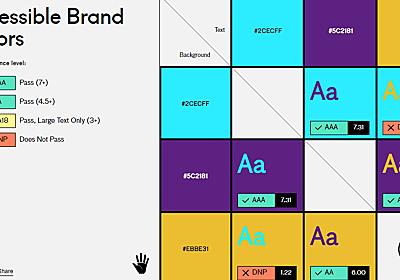 無料でデザイン上「アリ」な色の組み合わせをサクッと確認できる「Accessible Brand Colors」レビュー - GIGAZINE