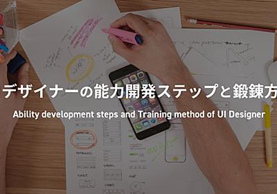 UIデザイナーの能力開発ステップと鍛錬方法|たけてつ / Studio Opt|note