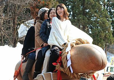 巨大な男根のご神体に初嫁を乗せて練り歩く奇祭「ほだれ祭り」写真&映像集 - GIGAZINE