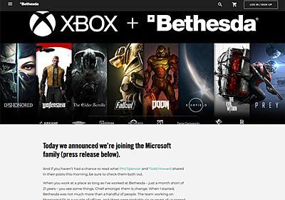 MicrosoftがBethesda Softworksと親会社のZeniMax Mediaを約7830億円で買収
