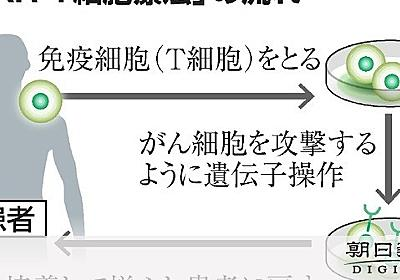 点滴1回4千万円、血液がん治療製品を了承 保険適用へ:朝日新聞デジタル