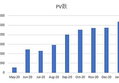 はてなブログの9か月目の運用結果!2021年1月のPVは月間10,000PV超えました!ブログ関連の収入は? - シングルプレーヤーへの道は遠い?