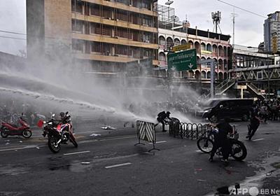 タイで大規模反政府デモ 警察と衝突 写真13枚 国際ニュース:AFPBB News
