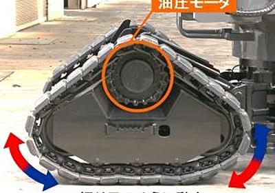 四脚クローラ方式を採用した双腕型コンセプトマシンを開発 - Hitachi Construction Machinery