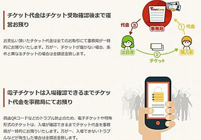 チケット高額転売の「反対声明」にチケット売買サイトらが見解 - CNET Japan