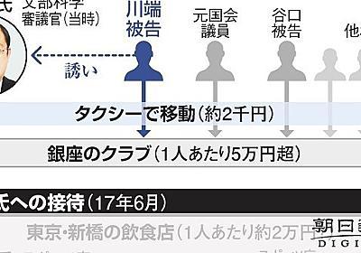文科官僚は「とにかく脇甘い」 接待、一晩10万円超も:朝日新聞デジタル