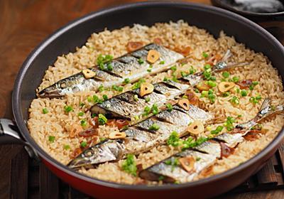 炊飯器のニオイ残りが気になる?ならば「サンマとにんにくの炊き込みご飯」はフライパンで炊こう【筋肉料理人】 - メシ通 | ホットペッパーグルメ