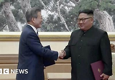 North and South Korea: Kim and Moon hail new future - BBC News
