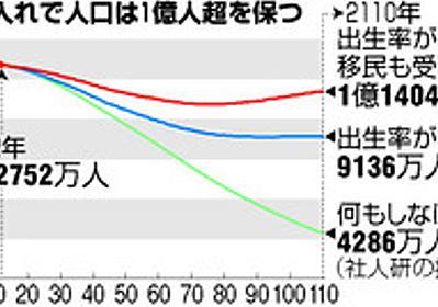 日本の人口「移民で1億人維持可能」 政府、本格議論へ:朝日新聞デジタル