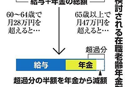 稼ぐ高齢者の年金減額、見直しへ ただし原資は1兆円超:朝日新聞デジタル