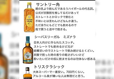 「スーパーで買える2000円前後のウイスキーレポ」に呑兵衛が集まって『推し酒』を語る展開へ。「ミズナラはいいぞ」「手軽さならジャックダニエル」他 - Togetter