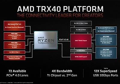 AMD、第3世代Ryzen Threadripperの驚愕的なスペックを公開 - PC Watch