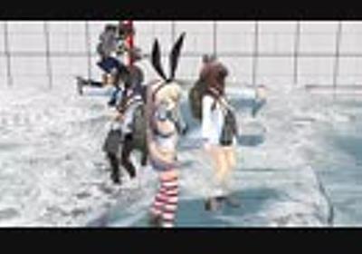 続・流体シミュレーション水面で島風がばちゃばちゃ踊る動画