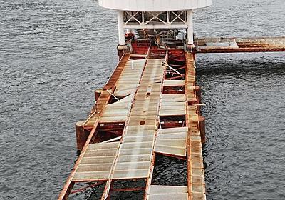 """神戸の人気スポットが""""廃虚化"""" 3年前から休園、須磨海づり公園 桟橋はがれ落ち、電気系統は全壊… 総合 神戸新聞NEXT"""