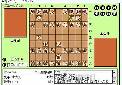 将棋ソフトで対局~k-shogi(5) - 小太刀の日々好日