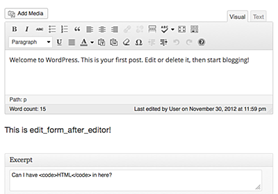 More hooks on the edit screen: edit_form_after_title and edit_form_after_editor – Make WordPress Core