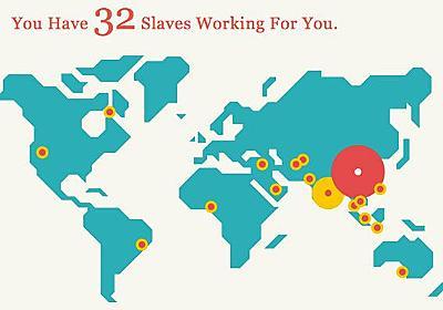 「自分が持つ奴隷の数」が分かるアプリ|WIRED.jp