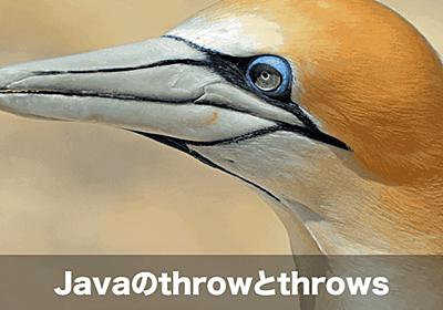 【Java初心者向け】throwとthrowsの違いとその使い方