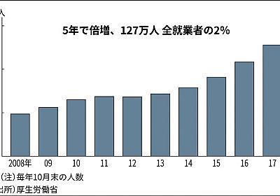 日本に127万人 データでみる外国人労働者  :日本経済新聞