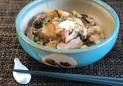 出汁あふれる豚肉とお麩の卵とじ - らしくないblog