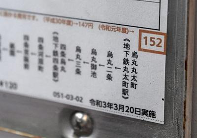 京都市バス、赤字の上位5路線は|社会|地域のニュース|京都新聞