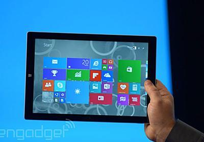 速報:マイクロソフト Surface Pro 3 発表。12インチ2160x1440画面、Core i7で800g - Engadget 日本版