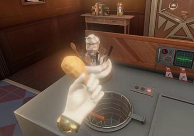 ケンタッキーが「フライドチキンを揚げる方法」を学ぶまで部屋から脱出できないVRゲームを研修に導入、まるでデスゲームでも始まるかのような異様な雰囲気 - GIGAZINE