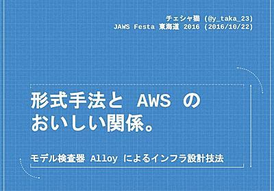 形式手法と AWS のおいしい関係。- モデル検査器 Alloy によるインフラ設計技法 #jawsfesta